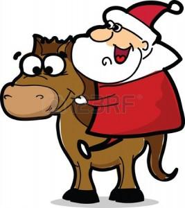26742591-lustige-weihnachtsmann-mit-pferd